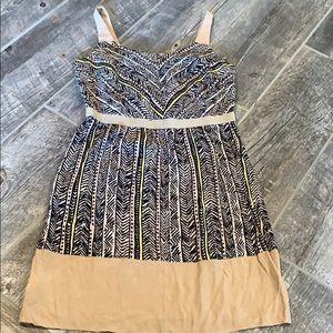 Ann Taylor LOFT Black & Tan Shift Dress